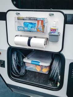 This DIY RV hand sanitizing station will make your life a whole lot cleaner and way more organized the next time you head to the dump station! Travel Trailer Living, Travel Trailer Camping, Travel Trailer Organization, Rv Organization, Rv Camping Tips, Rv Tips, Camping Ideas, Tent Camping, Outdoor Camping