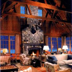 Traditional Family Room Fireplace, Entertainment Center, Exposed Beams Design, Pictures, Remodel, Decor and Ideas - page 2
