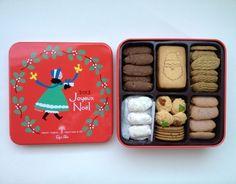 田園調布・レピドールのクリスマスクッキー。杉浦さやかさん絵の缶入りです。ふたを開けるとクリスマスソングが流れるしかけ。贈りものにしたい冬の限定品。    http://www.lepi-dor.co.jp/detail.php?idx=188|minori_louleの投稿画像