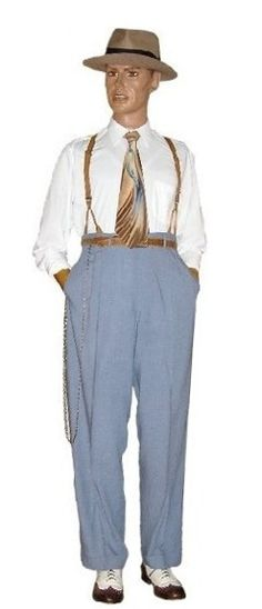 Puppet Master. High waisted pants, suspenders and rolled up sleeves. Could also be worn with a snazzy tail coat.