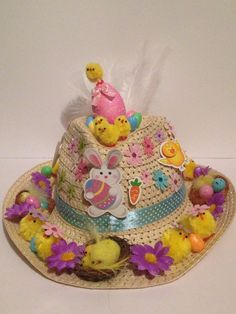 Easter Bonnet — (750x1000) Bonnet Hat, White Feathers, Sheep, Easter, Activities, Hats, Birthday, Handmade, Hand Made