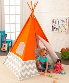 Look at this #zulilyfind! KidKraft Orange Play Teepee by KidKraft #zulilyfinds