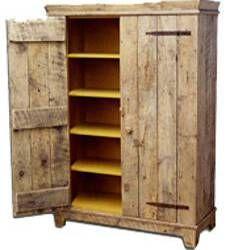 Rustic Barnwood Kitchen Cabinet
