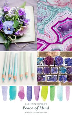 COLOR INSPIRATION: Peace of Mind | http://adventures-in-making.com/color-inspiration-peace-of-mind/