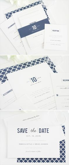 Date monogram wedding invitations.  Shop: Shine Wedding Invitations --- http://www.shineweddinginvitations.com/wedding-invitations/date-monogram-wedding-invitations