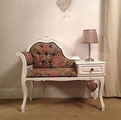Regency Style chaise longue telephone table/seat | eBay