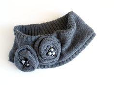 Make a sweater head wrap