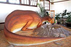 Missouri dinsosaur model on second floor of Bollinger County Museum