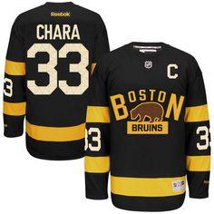 Men's Boston Bruins Zdeno Chara Reebok Black 2016 Winter Classic Premier Jersey