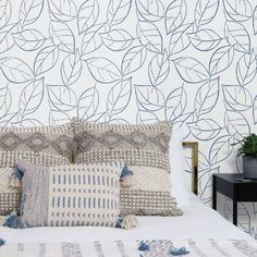 Tossed Leaves peel and stick wallpaper by @NextWall. Blue or grey. Made in USA. Botanical. #removablewallpaper #DIY #peelandstickwallpaper #botanicalwallpaper #homedecorideas #naturewallpaper #organicmoderndecor #modernwallpaper #bedroomwallpaper #livingroomwallpaper #vacationrentaldecor Removable Wallpaper, Wallpaper, Peel And Stick Wallpaper, Wallpaper Living Room, Home Decor, Modern Wallpaper, Modern Decor, Nature Wallpaper, Vacation Rentals Decor