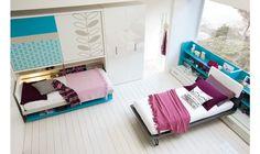 Le système modulable de ce lit bureau permet de passer d'un grand bureau à un lit grand confort en 5 secondes.