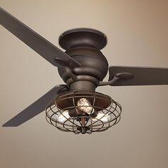"60"" Casa Spyder Nostalgic Industrial Bronze Ceiling Fan - #R4216-T2693-Y2846-U8886   LampsPlus.com"