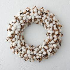 Preserved Cotton Wreath