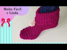 PANTUFA EN TEJIDO PASO A PASO PARA PRINCIPIANTES - YouTube Knit Shoes, Crochet Art, Youtube, Christmas Stockings, Knitting, Holiday Decor, Wire, Fashion, How To Knit