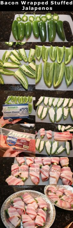 Bacon Wrapped Stuffed Jalapenos food grill recipe recipes dinner recipes… use garden vegetable cream cheese not regular I Love Food, Good Food, Yummy Food, Bacon Wrapped Stuffed Jalapenos, Grilled Stuffed Jalapenos, Bacon Wrapped Appetizers, Stuffed Jalapeno Peppers, Jalapeno Grill, Memorial Day Foods