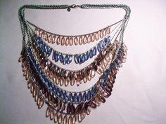 Lydell NY multi strand bead necklace statement by vintagebyrudi