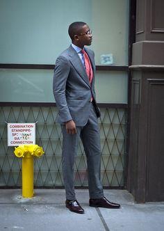 This, gentlemen, is how you wear wide lapels. #Aim2Win