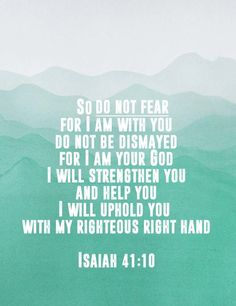 Isaiah 41:10 Free Printable, Bible Verse Printable about Fear