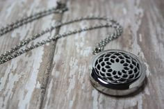 Essential Oil Diffuser Necklace- Aromatherapy Necklace- Stainless Steel Pendant- Stainless Steel Aromatherapy Necklace- Lotus Design 30mm  Would you