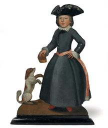 AN ENGLISH PAINTED WOOD DUMMY BOARD 18TH CENTURY The ebonised wood board with a painted canvas surface, restored 47 in.