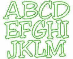 Trucks and Tutus Boutique: APPLIQUE ALPHABET and NUMBER CHOICES