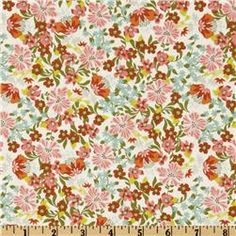 Hope Chest Flower Bed White - Discount Designer Fabric - Fabric.com