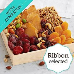 Shari's Berries - Simply Snacks Gift with Sympathy Ribbon - 1 Count - Gourmet Baked Good Gifts