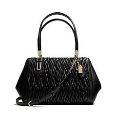 COACH MADISON SMALL MADELINE EAST/WEST SATCHEL IN GATHERED TWIST LEATHER at www.bonton.com