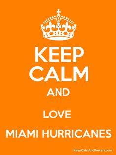 Keep Calm And Love The Miami Hurricanes