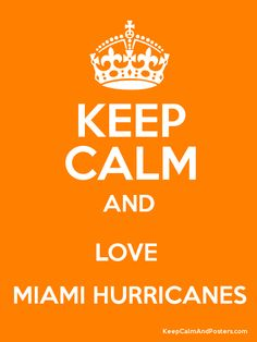 Keep Calm And Love The Miami Hurricanes