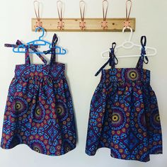 Just look at these adorable kids dresses made by De Fraai Kraai using Three Cats Shweshwe fabric by Da Gama Textiles. Little Dresses, Cute Dresses, Winter Dresses, Summer Dresses, Shweshwe Dresses, Three Cats, African Print Dresses, Traditional Outfits, Textile Design
