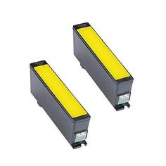 2PK Compatible 331-7692 Yellow Ink Cartridge For Dell 31 32 33 34 V525w V725w