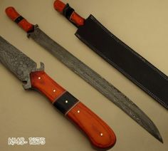KMS 1275 Hand Made Damascus Steel Sword Hunting Knife by ★★★ Knife Maker ★★★ | eBay