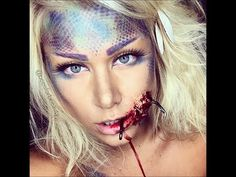 hooked mermaid sfx ariel halloween makeup tutorial - YouTube