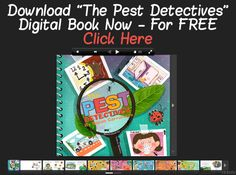 Free ebook for kids - The Pest Detective by Susan of & Janice Minutes For Mom) Detective, Reading Themes, New Children's Books, Book Suggestions, Creative Kids, Peaches, Free Ebooks, Kids Learning, Lesson Plans