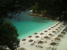 Saliara beach Thassos!  Loveeee!!! Dream Vacations, Vacation Spots, Greece Tours, Thasos, Greek Beauty, Nature Beach, Greece Islands, Future Travel, The Good Place