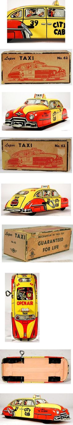c.1948 Lupor, No.62 City Cab Taxi in Original Box