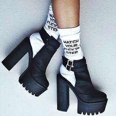 Monica in the Jeffrey Campbell Milieu Leather Heel || Get the heels: http://www.nastygal.com/product/jeffrey-campbell-milieu-leather-heel?utm_source=pinterest&utm_medium=smm&utm_term=ngdib&utm_content=omg_shoes&utm_campaign=pinterest_nastygal