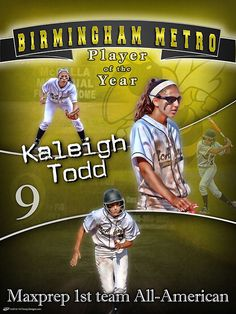 We had the privilege of helping Kevin and Kathie Todd of creating a personalized senior poster for making MaxPrep 1st team All-American and Birmingham Metro Player of the Year. We want to congratulate her on the accomplishments she has made with her time at McAdory High School. Kaleigh Todd has signed with South Alabama to continue on her softball career as now a Jaguar. Also, we want to wish her good luck on her upcoming year with South Alabama!