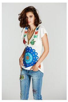 f80c7cfbe5a Camisetas   Tops Desigual Camiseta Candice Camiseta Desigual