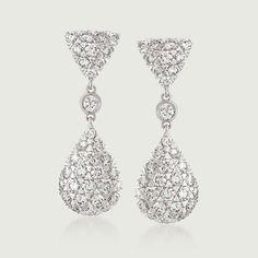 Kwiat 1.45 Carat Total Weight Diamond Drops in 18-Karat White Gold