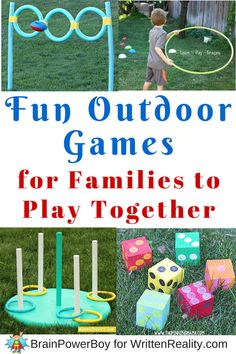 Enjoy playing together as a family with these fun outdoor games.