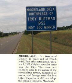 Mooreland Oklahoma | Oklahoma City and Town Signs