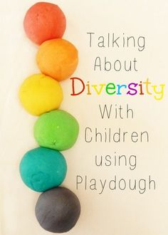 This is a wonderful and simple way of visually showing children that although playdough comes in a variety of colors, it still serves the same purpose at the end of the day.