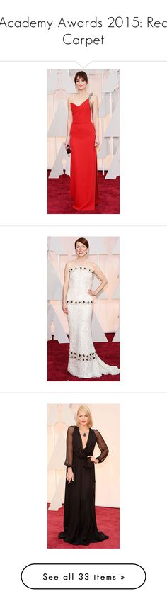 """Academy Awards 2015: Red Carpet"" by polyvore-editorial ❤ liked on Polyvore featuring oscars2015, PVredcarpet, red carpet, people, dresses, nude dress, pink dress, fashion roleplay award shows, gowns and jewelry"