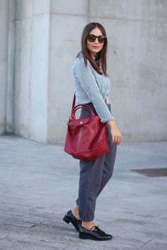 Spanish blogger All That She Wants / Erea Louro has created a look on her blog, starring Le Pliage Cuir #LePliageGallery