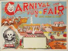 DP Vintage Posters - Original Vintage Carnival And Fun Fair Poster 100 Smiles and Hour