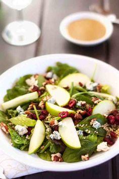 Quinoa Salad with Cranberries, Apple, and Pecans
