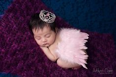 NEWBORN WINGS pink wings and crown headband by alliballiboutique