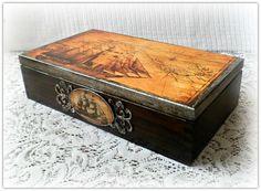 Wooden tea box  Sold